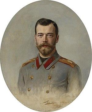 Ernst Friedrich von Liphart - One of Liphart's portraits of Tsar Nicholas II