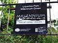 Liquorice Park Millennium Green sign, Lincoln, England - DSCF1610.JPG