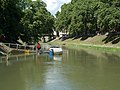 Little Danube between Saint Nicholas bridge and Bottyan Bridge in Esztergom, Hungary.jpg