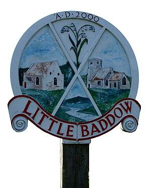 Little Baddow - Image: Little baddow sign