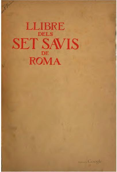 File:Llibre dels set savis de Roma (1907).djvu
