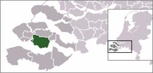 Lewedorp - Image: Locatie Borsele