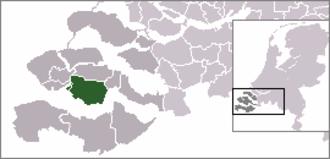 's-Heerenhoek - Image: Locatie Borsele