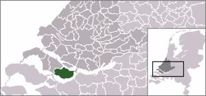 Den Bommel - Image: Locatie Oostflakkee