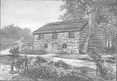 A drawing of the Log College
