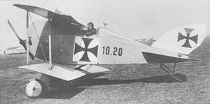 Lohner Type AA - The Lohner 10.20A with lengthened fuselage, twin struts and vertical fin.