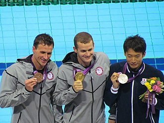 Swimming at the 2012 Summer Olympics – Men's 200 metre backstroke - Medalists of the event