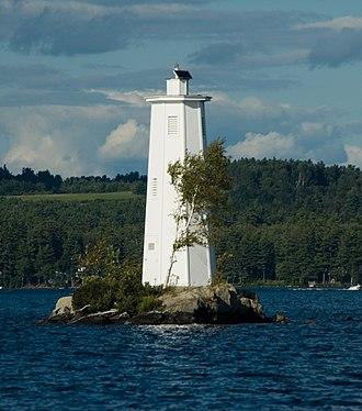 Lake Sunapee - Loon Lighthouse; one of three lighthouses on Lake Sunapee