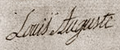 Louis Auguste of France signature at his wedding in 1770.png