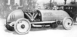 Jerome Case - Jay-Eye-See racecar in 1912 with driver Louis Disbrow