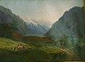 Louis Gurlitt - View of Odda at the Sør Fjord in Hardanger, Norway. Morning Light - KMS8224 - Statens Museum for Kunst.jpg