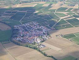 View from the sky to Welgesheim