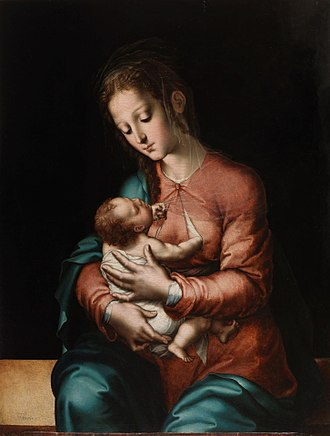 Badajoz - A Luis de Morales painting Mother and Child