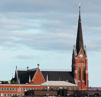 Luleå Cathedral - Image: Lulea Kirche, modified