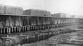 Saginaw, Michigan - Lumber Docks AW Wright along Saginaw River