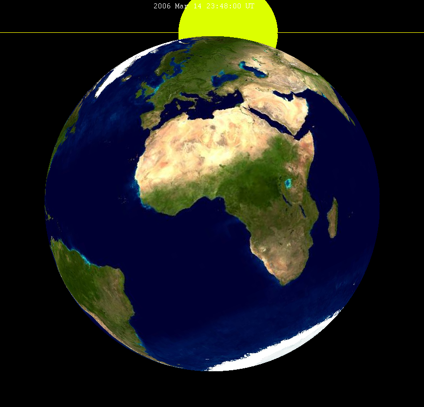 Lunar eclipse from moon-2006Mar14