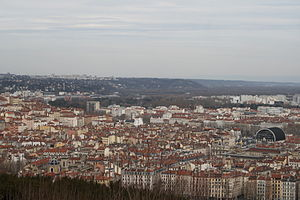 1st arrondissement of Lyon - View of the 1st arrondissement of Lyon from the Fourvière hill