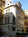 Měšťanský dům (Staré Město), Praha 1, Týnská 7, Staré Město - pohled od Týnského chrámu.JPG