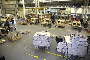 Oshkosh M-ATV - M-ATV components being refurbished, 2017.