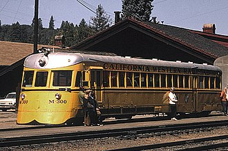 California Western Railroad - M-300 at Willits, 1970