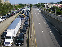 Route 99 As Observed From The Bunker Hill Community College Skywalk In Charlestown