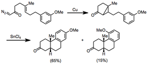 Intramolecular reactions of diazocarbonyl compounds - Image: MCP Scope 2