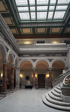 Florence Riefle Bahr - Maryland Institute College of Art (MICA), the main hall of the main building.