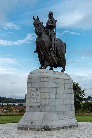 Robert the Bruce - Statue of Robert the Bruce at the Bannockburn battle field