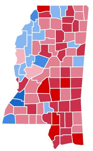 United States presidential election in Mississippi, 1988 - Image: MS1988