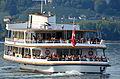MS 'Helvetia' der Zürichsee-Schifffahrts-Gesellschaft (ZSG) vor Rapperswil, Ansicht vom Seedamm 2012-10-05 15-33-48.JPG