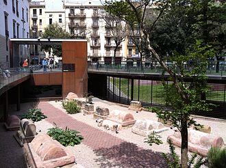 Barcelona City History Museum - Roman funeral way in Vila de Madrid square