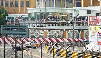 Macau Grand Prix - The entry into the Lisboa corner, Guia Circuit
