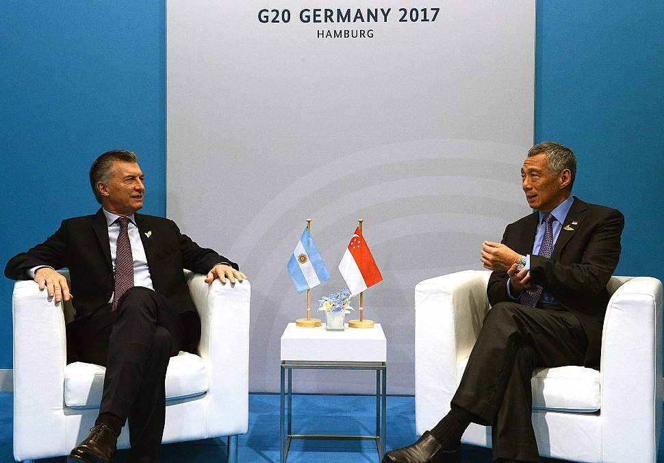 Macri with Lee Hsien Loong