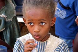 A girl in a Madagascar village