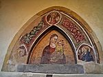 Cloister-Madonna with saints