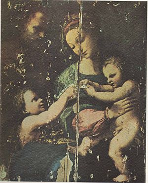 La Madonna de Bogota (Raphael) - La Madonna de Bogota by Raphael; as Santiago Martinez Delgado discover it.