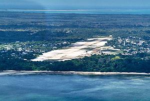 Mafia Island - Aerial view of Mafia Island Airport