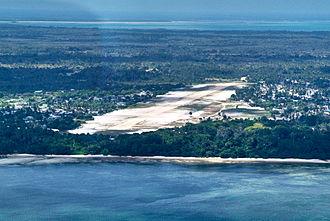 Mafia Island - An aerial view of Mafia Island airport.