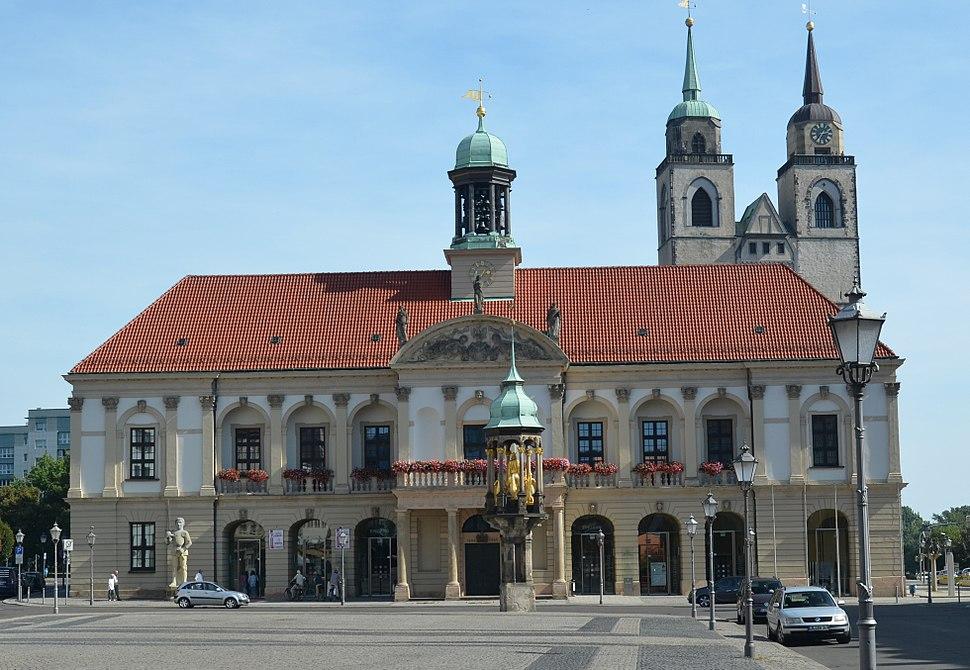 Magdeburg Alter Markt mit Rathaus
