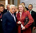 Mahmoud Abbas and Karin Kneissl in Brüssels - 2018 (39822675702).jpg