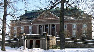 Academy of sciences - Main building of the Royal Swedish Academy of Sciences in Stockholm.