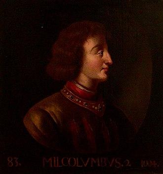 Malcolm II of Scotland - Image: Malcolm II of Scotland (Holyrood)