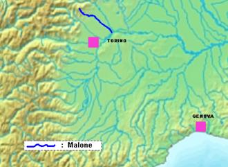 Malone (river) - Image: Malone location