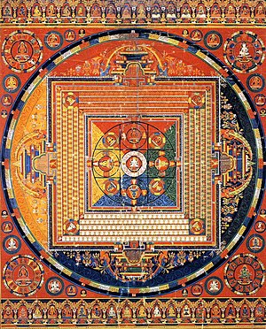 Thangka painting of Vajradhatu Mandala