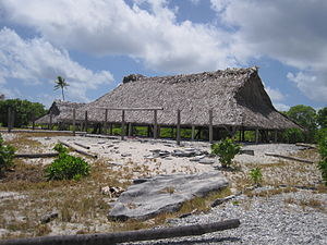 Maneaba - Traditional maneaba in Babaroroa, north of Arorae atoll, Kiribati