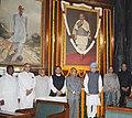 Manmohan Singh, the Speaker, Lok Sabha, Smt. Meira Kumar, the Union Finance Minister, Shri Pranab Mukherjee, the Union Minister for Parliamentary Affairs and Water Resources, Shri Pawan Kumar Bansal.jpg
