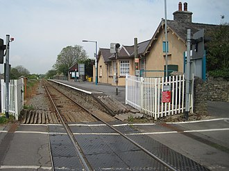 Manorbier railway station - Image: Manorbier railway station, Pembrokeshire geograph.org.uk 3991437
