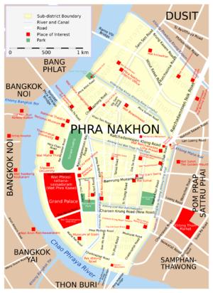 Phra Nakhon District - District map