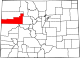 Map of Colorado highlighting Garfield County.svg