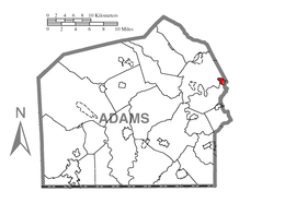 Map of East Berlin, Adams County, Pennsylvania Highlighted.png